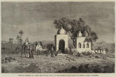 Caravan Arriving at a Well Near Thebes, Egypt--Giclee Print