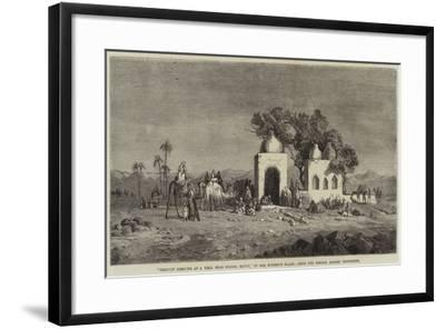 Caravan Arriving at a Well Near Thebes, Egypt--Framed Giclee Print