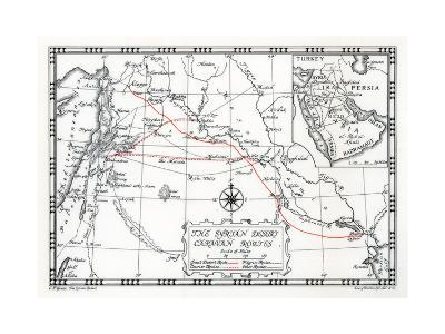 Caravan, Courier and Pilgrim Routes in the Syrian Desert, 1937-Emery Walker-Giclee Print