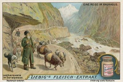 Caravan in the Darial Gorge, Russia--Giclee Print