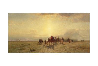 Caravan in the Desert, 1878-Samuel Colman-Giclee Print
