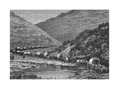 Caravan of Pioneers--Giclee Print