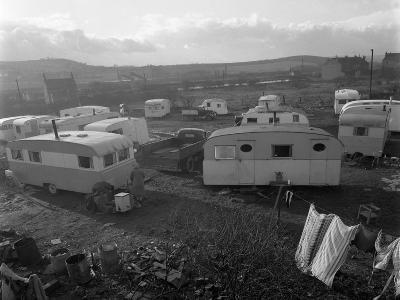 Caravan Site, Mexborough, South Yorkshire, 1961-Michael Walters-Photographic Print