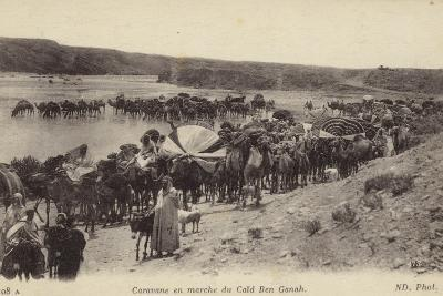 Caravan Travelling from Caid Ben Ganah in Algeria--Photographic Print