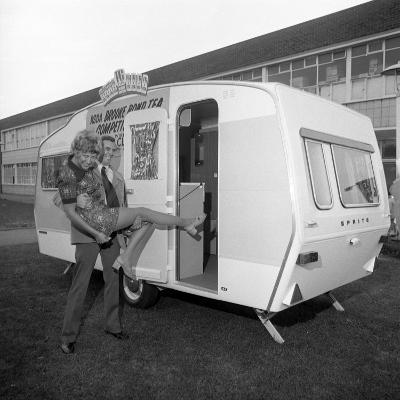Caravan Winners, Rotherham, South Yorkshire, 1972-Michael Walters-Photographic Print