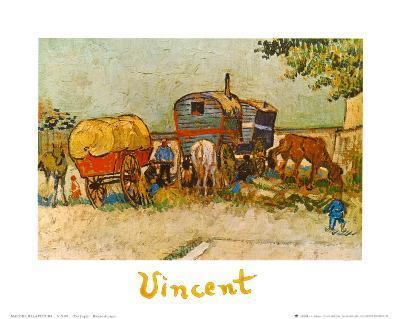 Caravans Encampment of Gypsies-Vincent van Gogh-Art Print