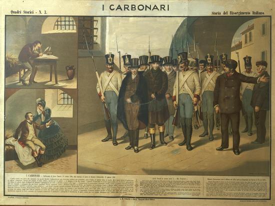 Carbonari Silvio Pellico Writing from Prison, My Imprisonment--Giclee Print