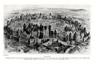 Carcassonne, France-A Robidan-Giclee Print