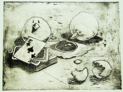 Card Birds-Thomas MacGregor-Giclee Print
