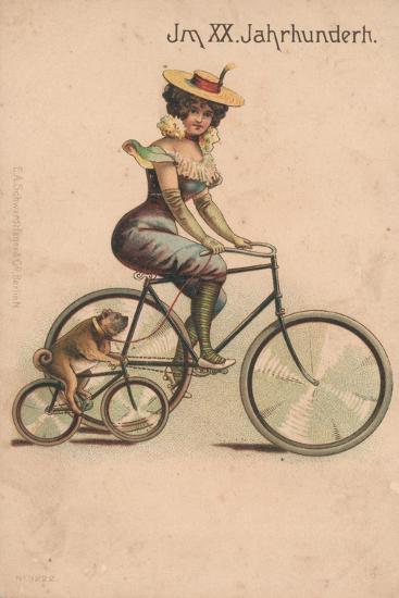 Card Celebrating the Turn of 1900-German School-Giclee Print