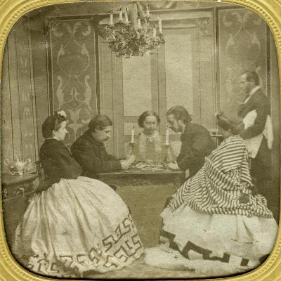 Card Game, 19th Century--Giclee Print