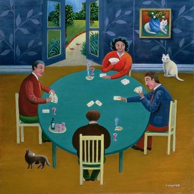 Card Game-Jerzy Marek-Giclee Print