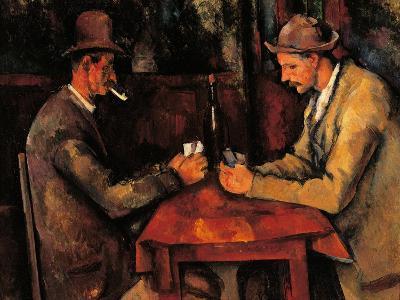 Card Players-Paul C?zanne-Art Print