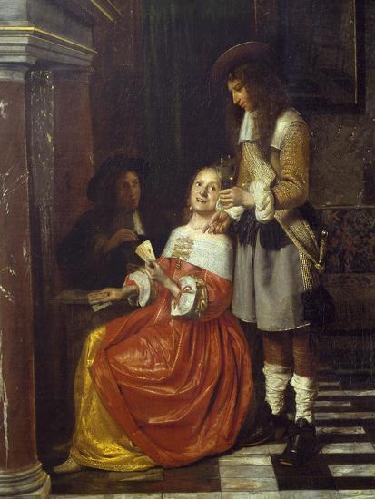 Card Players-Pieter de Hooch-Giclee Print