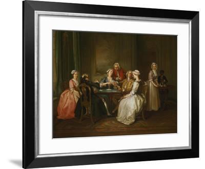 Card-Playing Gathering-Joseph F. zugeschr Nollekens-Framed Giclee Print