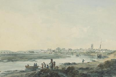 Cardiff from the South, C.1789-Julius Caesar Ibbetson-Giclee Print