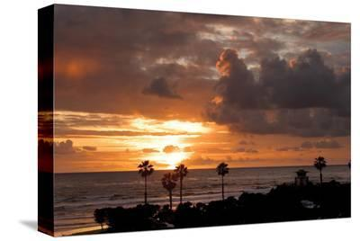 Cardiff Sunset-Shane Settle-Stretched Canvas Print
