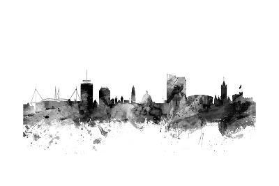 Cardiff Wales Skyline-Michael Tompsett-Art Print