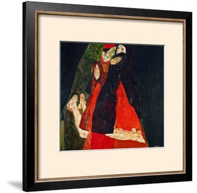 Cardinal and Nun (Liebkosung), 1912-Egon Schiele-Framed Giclee Print