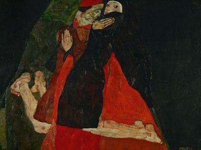 Cardinal and Nun (Liebkosung), 1912-Egon Schiele-Giclee Print