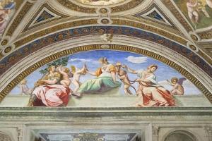 Cardinal and Theological Virtues, 1511, Raphael, 1483-1520