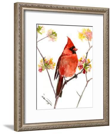 Cardinal Bird 3-Suren Nersisyan-Framed Art Print