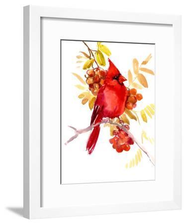 Cardinal Bird 4-Suren Nersisyan-Framed Art Print