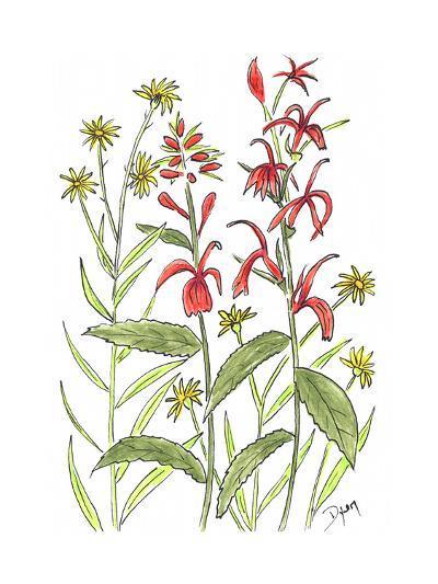 Cardinal Flower-Beverly Dyer-Art Print