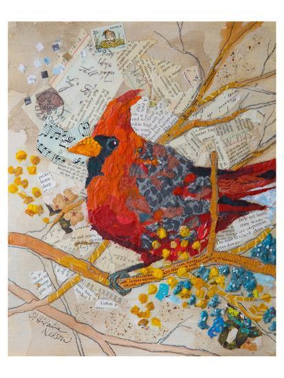 Cardinal On White--Art Print