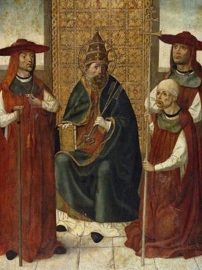 Cardinal Pedro González De Mendoza (1428-149) Praying before Saint Peter, 1490-1495--Giclee Print