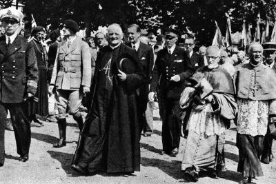 Cardinal Pierre-Marie Gerlier During a Vichy Parade, C.1940-44--Photographic Print
