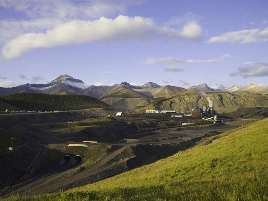 Cardinal River Coal Mine in the Canadian Rocky Mountains-John Eastcott & Yva Momatiuk-Photographic Print