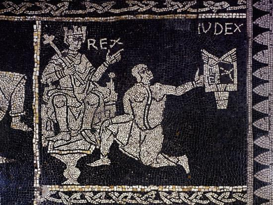 Cardinal Virtues, Allegory of Justice, Detail of the Mosaic Floor--Giclee Print
