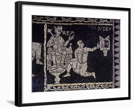 Cardinal Virtues, Allegory of Justice, Detail of the Mosaic Floor--Framed Giclee Print