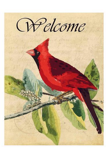 Cardinal Welcome-Kimberly Allen-Art Print