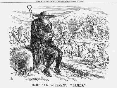 Cardinal Wiseman's Lambs, 1862-John Tenniel-Giclee Print