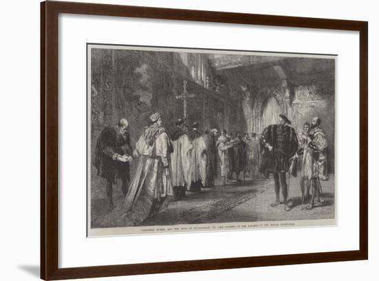 Cardinal Wolsey and the Duke of Buckingham-Sir John Gilbert-Framed Giclee Print