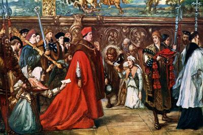Cardinal Wolsey Going in Procession to Westminster Hall, 1887-John Gilbert-Giclee Print