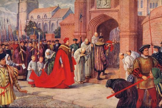 'Cardinal Wolsey possibly entering Hampton Court Palace', 1917-Unknown-Giclee Print