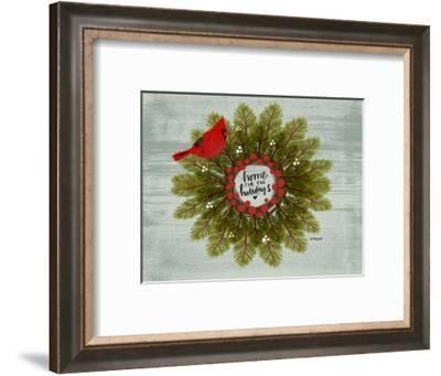 Cardinal Wreath-Katie Doucette-Framed Art Print