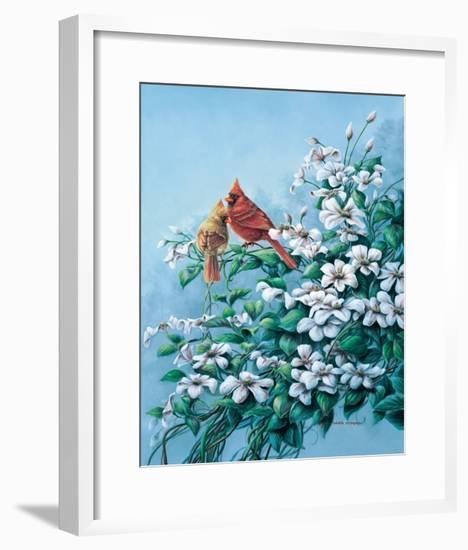 Cardinals-Wanda Mumm-Framed Giclee Print