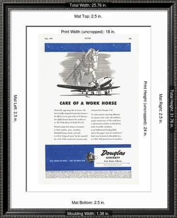 Care Of A Work Horse Douglas Ad Premium Giclee Print By Art Com