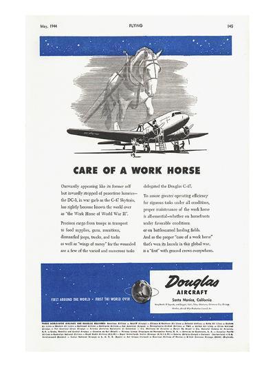 Care of a Work Horse Douglas ad--Art Print