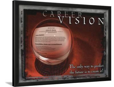 Career Vision--Lamina Framed Art Print