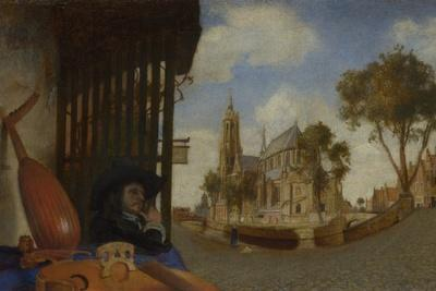 A View of Delft, with a Musical Instrument Seller's Stall, 1652