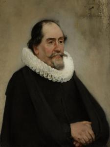 Portrait of Abraham De Potter, Amsterdam Silk Merchant by Carel Fabritius