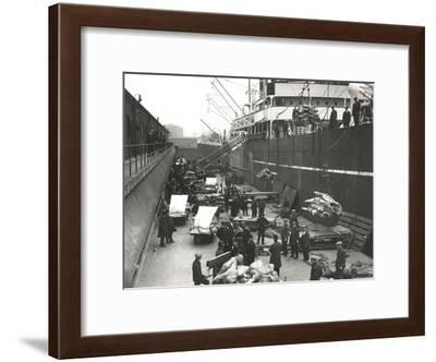 Cargo Being Loaded or Unloaded from a Ship, Royal Victoria Dock, Canning Town, London, C1930--Framed Giclee Print