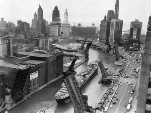 Cargo Ship on Chicago River