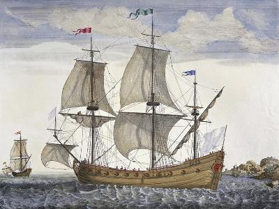 Cargo Vessel, France, 18th Century--Giclee Print