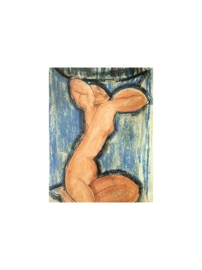 Cariatide, c.1913-14-Amedeo Modigliani-Serigraph